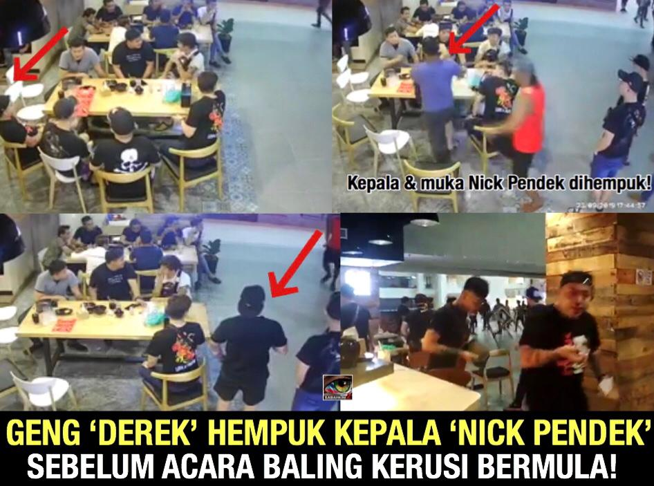 [VIDEO] Padan muka! Tular video Geng 'Derek' hempuk kepala Geng 'Nick Pendek'